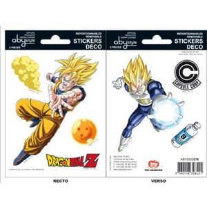 STICKERS Stickers Dragon Ball - 16x11cm  / 2 planches - DBZ