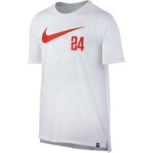 MAILLOT DE BASKET-BALL T-Shirt Nike Dry Kobe Swoosh 24 blanc pour homme