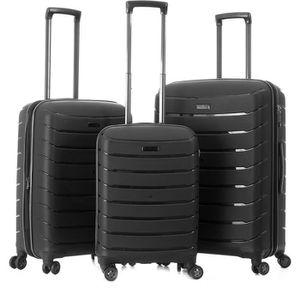 SET DE VALISES Lot de 3 valises rigides 75, 66 et 56 cm Noir NOIR