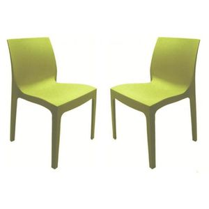 chaise vert anis achat vente chaise vert anis pas cher cdiscount. Black Bedroom Furniture Sets. Home Design Ideas