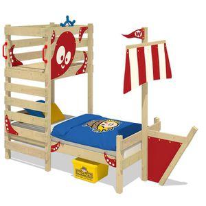 STRUCTURE DE LIT WICKEY Lit pour enfant en bois CrAzY Bounty  90x20