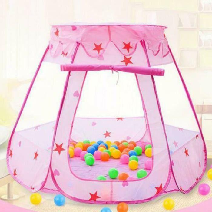 tente de jeu Portable intérieur enfants bébé jouet océan balle Pit piscine cadeau 87*110cm Rose
