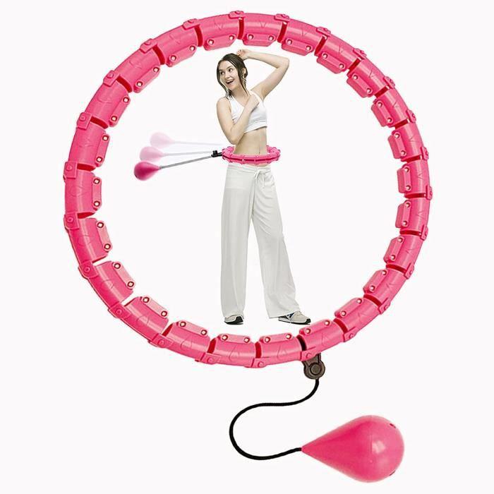 Cerceau Hula Hoop lesté pour adultes, 1 kg réglable Hula Hoop pour la perte de poids, Fitness Hula Hoops à la maison et au bureau