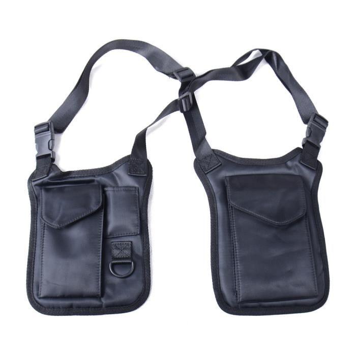 black -Sacoche tactique d'agent secret, pour homme,sac antivol à bandoulière, caché sous le bras, étui pour portefeuille,