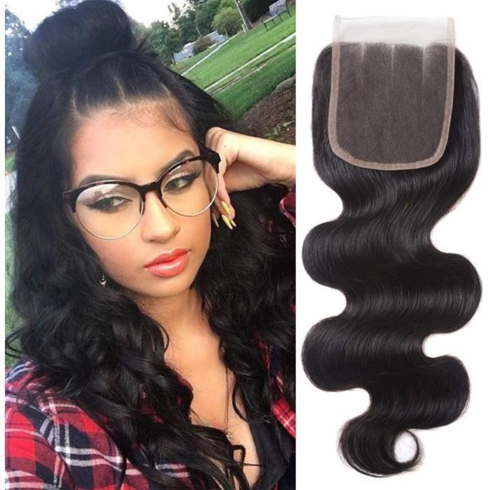 Extensions de cheveux et perruques et accessoires BLISSHAIR mèches closure cheveux bresilien extensions de cheveux Top L 249230