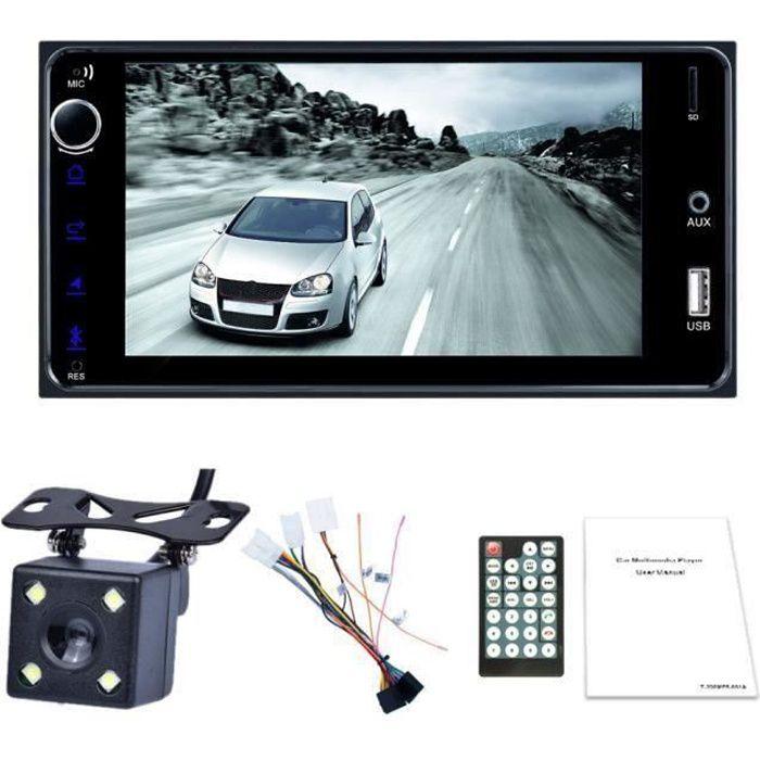 2 Din Autoradio 7 Pouces MultiméDia Android Presse Bluetooth ÉCran Wifi Voiture Audio StéRéO FM MP5 Lien de Miroir Radio FM pour