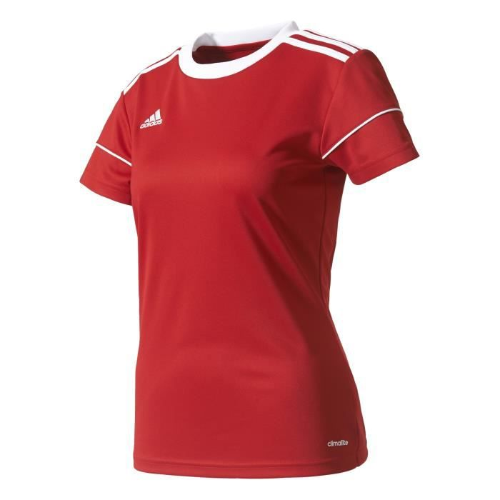 adidas Squad 17 JSY W T- T-Shirt Femme, Power Red/White, FR : M (Taille Fabricant : M) - BJ9203