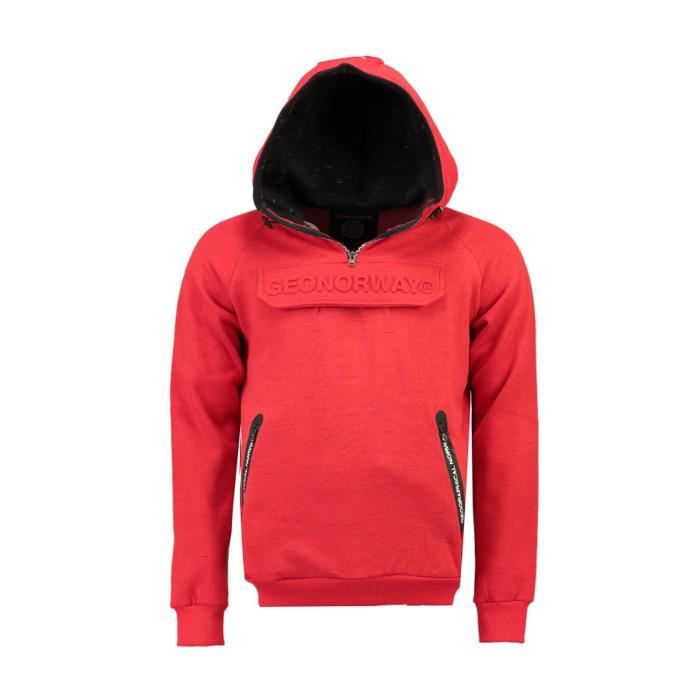 Sweat Homme Geographical Norway Gymsport Rouge