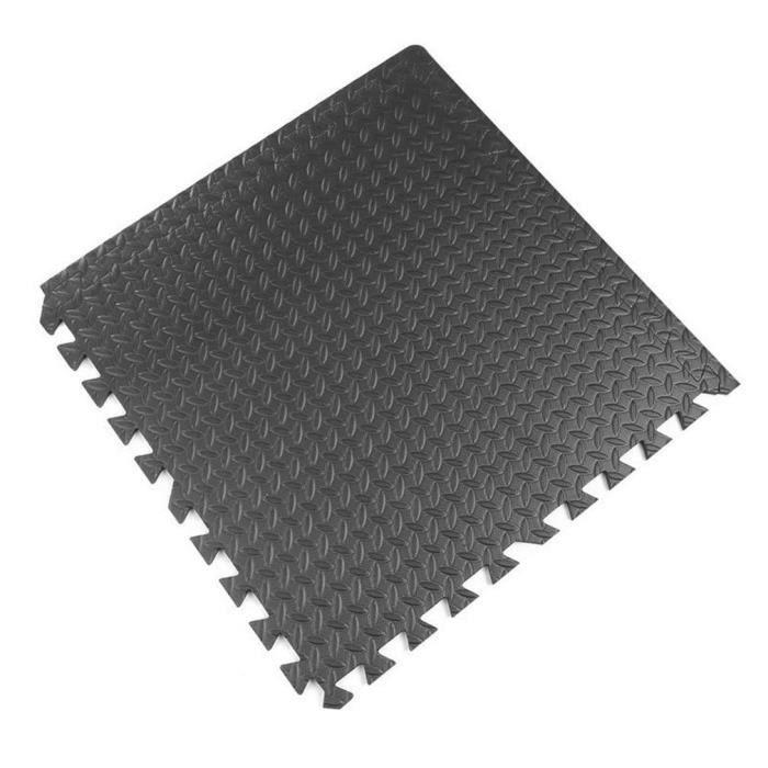 Tapis de gymnastique en mousse EVA 600mm x 600mm noir