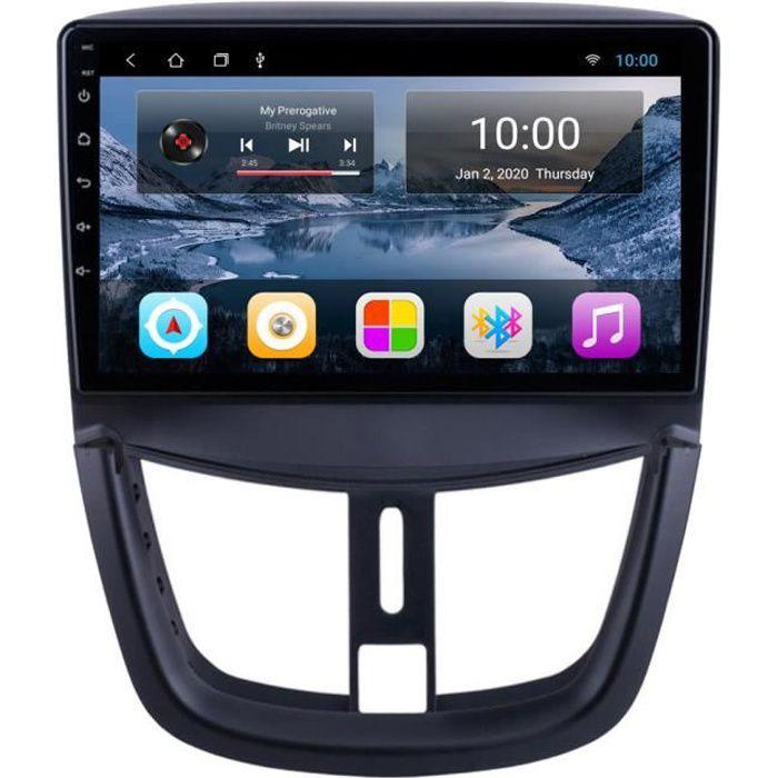RoverOne Autoradio GPS Bluetooth pour Peugeot 207 207CC 2006 - 2015 Android Stéréo Navigation WiFi Écran Tactile
