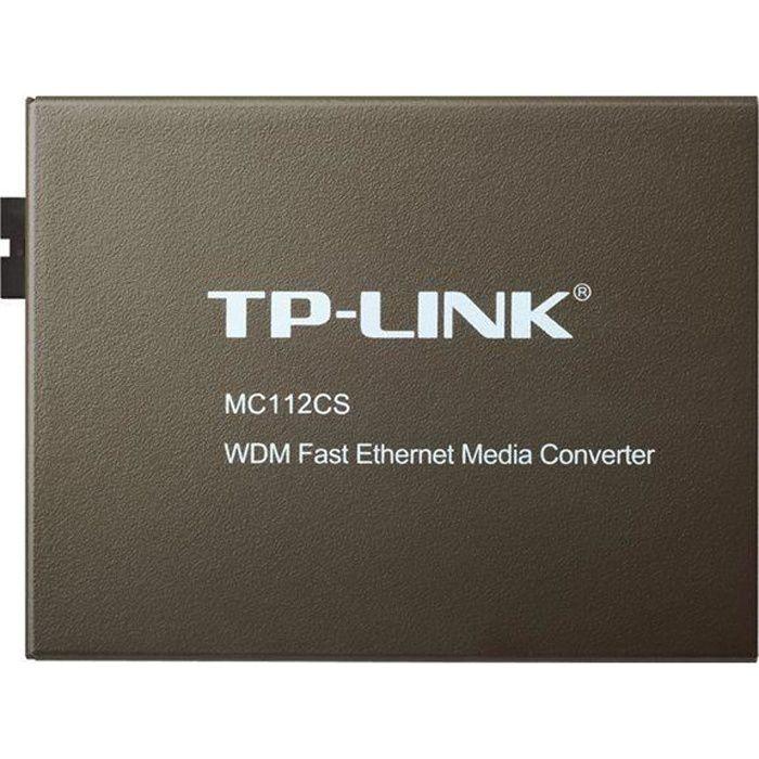 TPLINK CONVERTISSEUR FIBRE MONOMODE MC112CS
