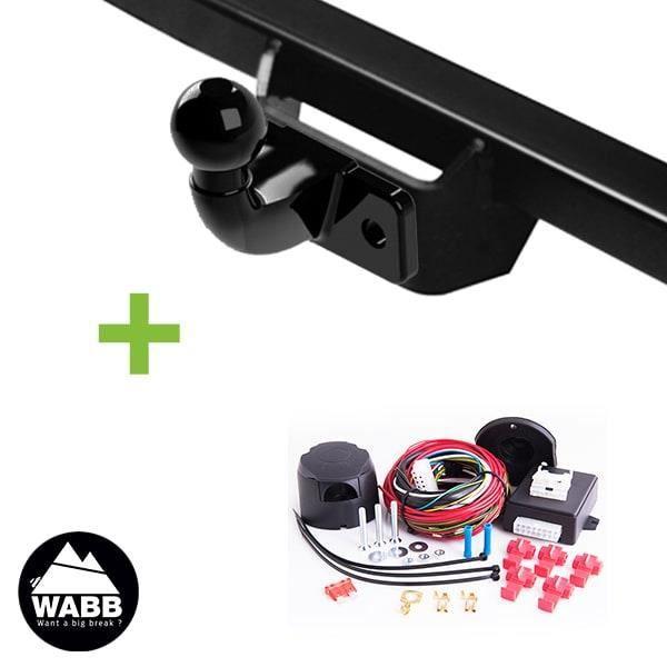 Attelage WABB démontable avec outils + faisceau universel 13 broches compatible feux LED pour Ford Transit Connect Court I Pack