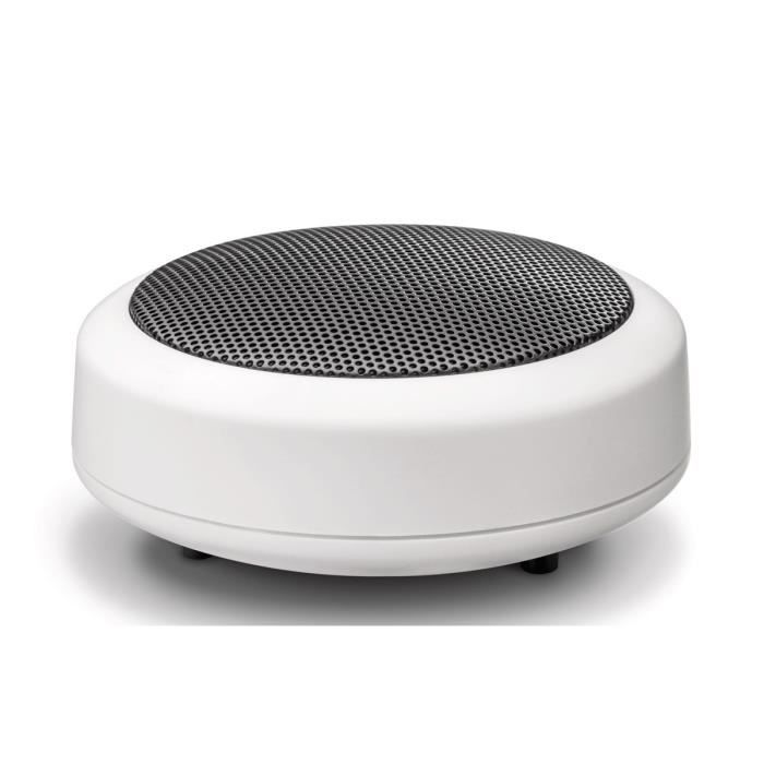Wavemaster Enceintes MOBI-2 - Blanc - 3,8W - Sans Fil - PC/Mobile/Tablette/Lecteur MP3-MP4