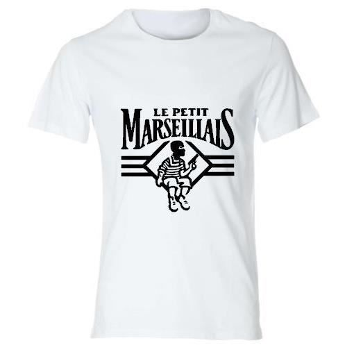 tee shirt parodie de marque le petit marseillais t shirt humour fun achat vente t shirt. Black Bedroom Furniture Sets. Home Design Ideas