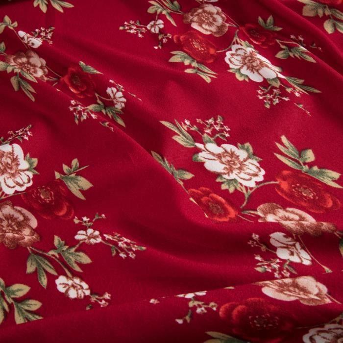 Coton Polyester Extensible Lycra Floral Imprimé Robe tissu vendu au mètre pas cher