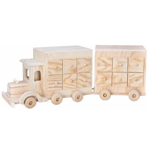 calendrier de l avent camion en bois achat vente voiture construire cdiscount. Black Bedroom Furniture Sets. Home Design Ideas