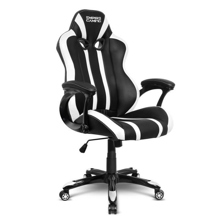 Gamer Racing Gaming Fauteuil Series 600 NoirBlanc Empire ZuPkTOiX