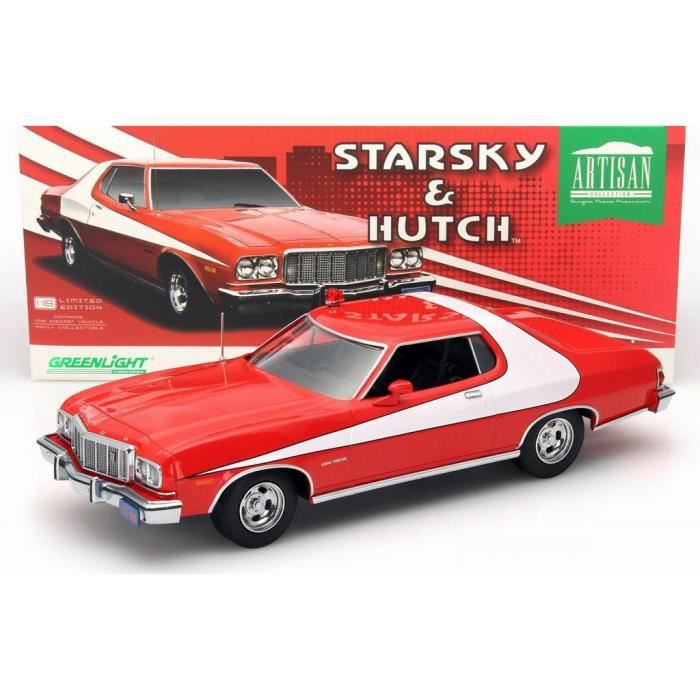 voiture ford gran torino 1976 starsky et hutch en m tal au 1 18 achat vente voiture camion. Black Bedroom Furniture Sets. Home Design Ideas