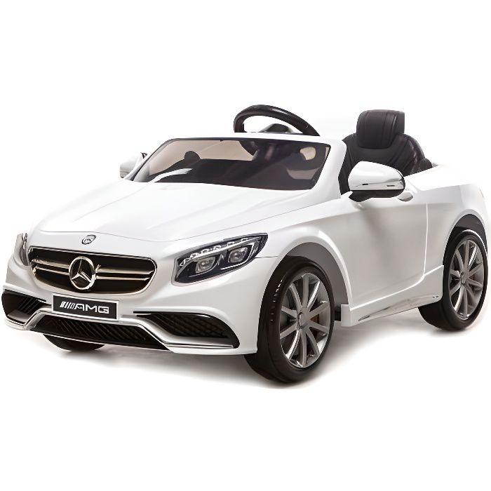 VOITURE ELECTRIQUE ENFANT Mercedes S63 AMG Blanc, avec télécommande parental