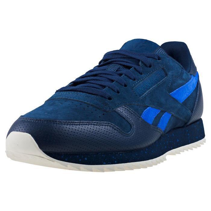 origen confirmar tabaco  Reebok Classic Leather Ripple Sm Hommes Baskets Bleu marin - 10 UK ...