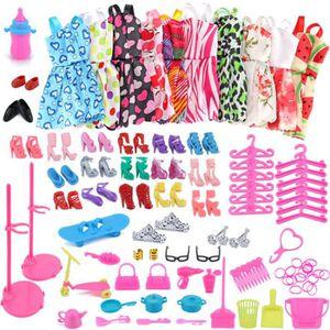 ACCESSOIRE POUPÉE 1set Barbie Dress Up Vêtements Lot Doll Accessoire