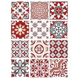 STICKERS Planche de 12 stickers Carreaux de Ciment - Redmon