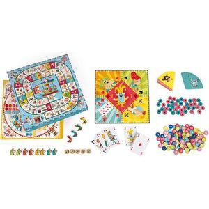 JEU SOCIÉTÉ - PLATEAU Coffret multi jeux carrousel (bois et carton)