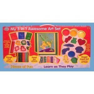 KIT PEINTURE Set d'activités 3 en 1 pour enfants, peinture au d
