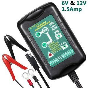 CHARGEUR DE BATTERIE Chargeur de Batterie pour Voiture 6-12 V 1.5A, Mai