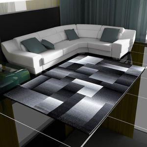TAPIS Moderne Design Géométrique Tapis Shaggy Salon Coul