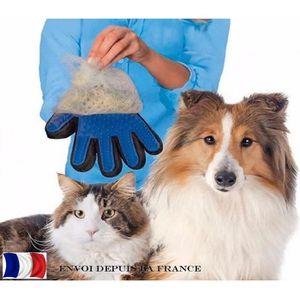 BROSSE - CARDE gant de toilettage et massage pour chien et chat
