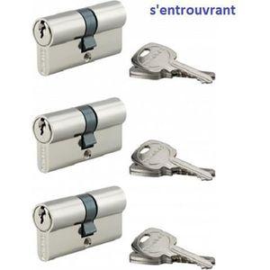 Yale YC1000 Cylindre de Serrure à Bouton 30x30 mm pour Porte
