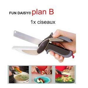 BATTEUR - FOUET Clever Cutter 2 en 1 Couteau de cuisine & Planche