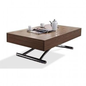 TABLE BASSE Table basse relevable CUBE noyer, extensible 12…