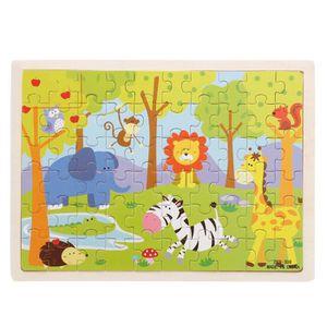 PUZZLE 60 Piece Animal Zoo Puzzle - Jeu éducatif en bois