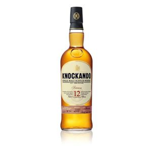 WHISKY BOURBON SCOTCH KNOCKANDO Single malt scotch whisky 12 ans d'âge A