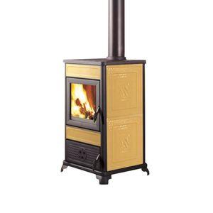 POÊLE À BOIS Poêle à bois 8,5 kW en fonte céramique couleur bei