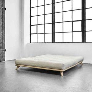 FUTON Ensemble Lit futon senza Naturel   matelas futon é