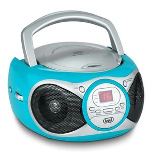 RADIO CD CASSETTE TREVI 0051213 Radio CD Portable - 3,5 mm - Turquoi