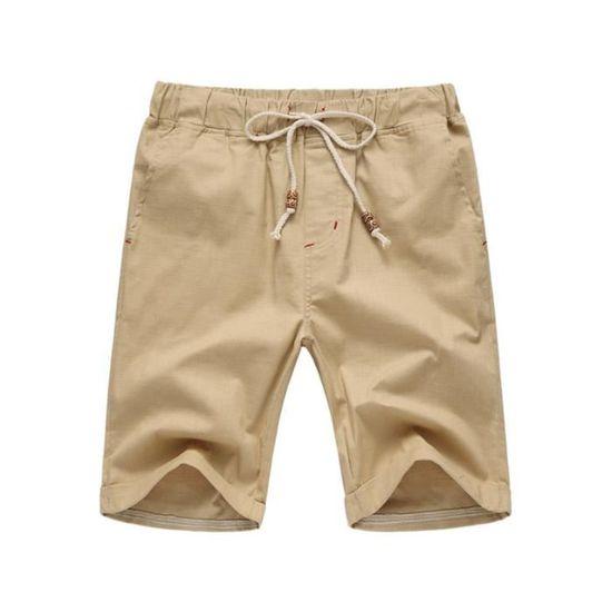 Taille XL) Short Homme Bermuda Casual Tissu