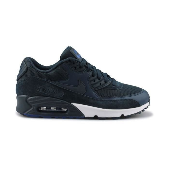 NIKE Baskets Air Max 90 Essential - Homme - Bleu marine Bleu ...