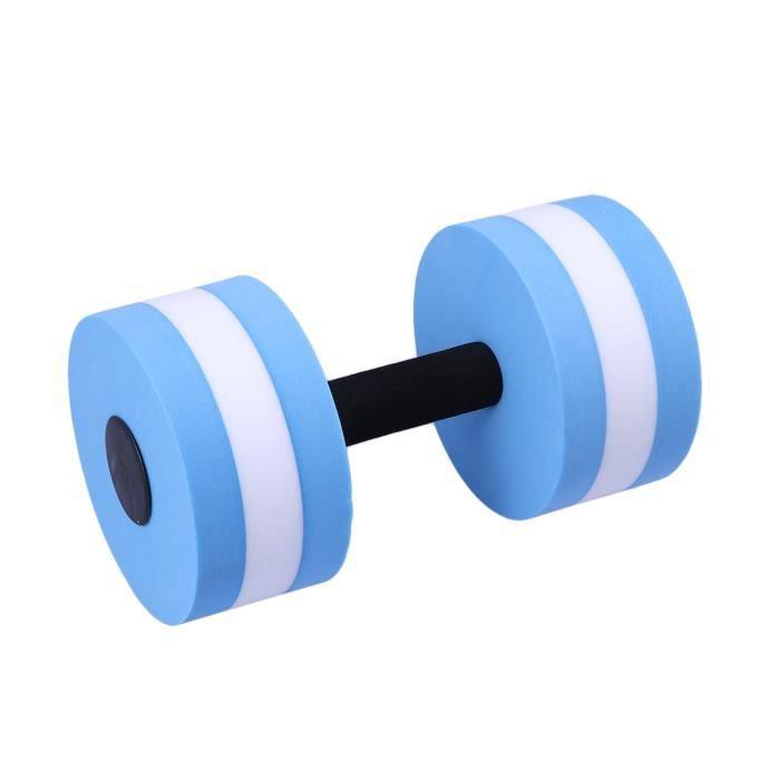 Barre de main d'haltère d'eau d'EVA d'haltère d'exercice aquatique pour l'aérobic de résistance à l'eau (bleu et blanc)