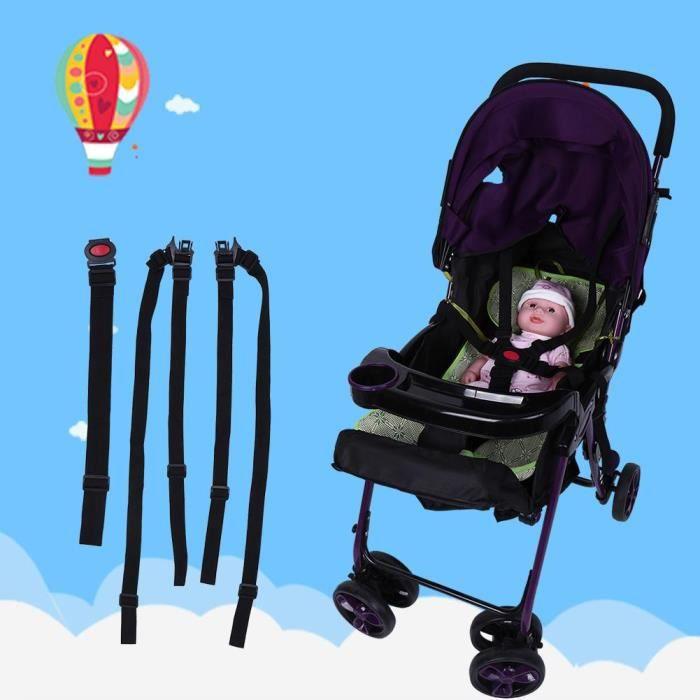 Harnais de Sécurité à 5 Points Universel,Ceinture de Sécurité Bébé Fixation de des sièges d'enfant Pour Chaise Haute Bébé