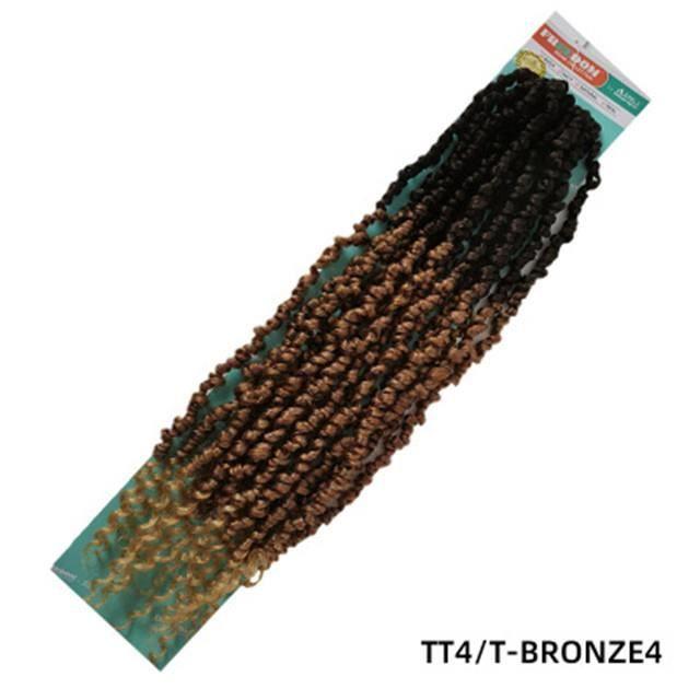 Perruques africaines à la mode européenne et américaine pour que les femmes tordent de fausses perruques de tresses - B