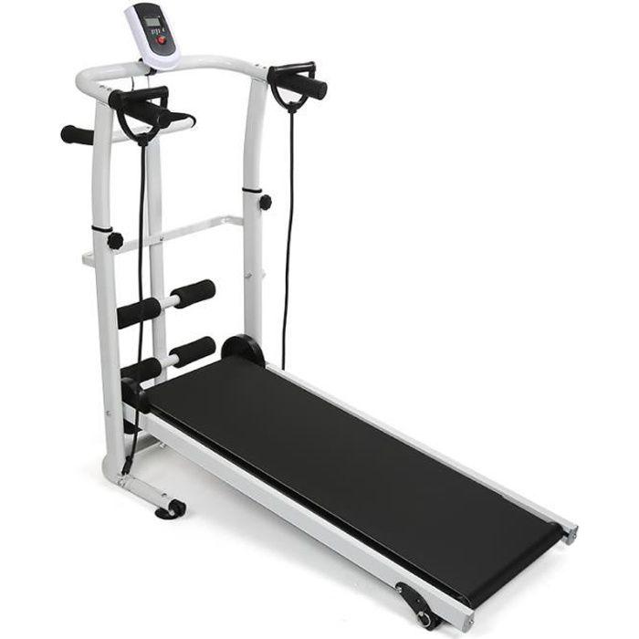 Tapis de course Tapis roulant avec Écran LCD Appareil de Fitness Pliable ( non-électrique )