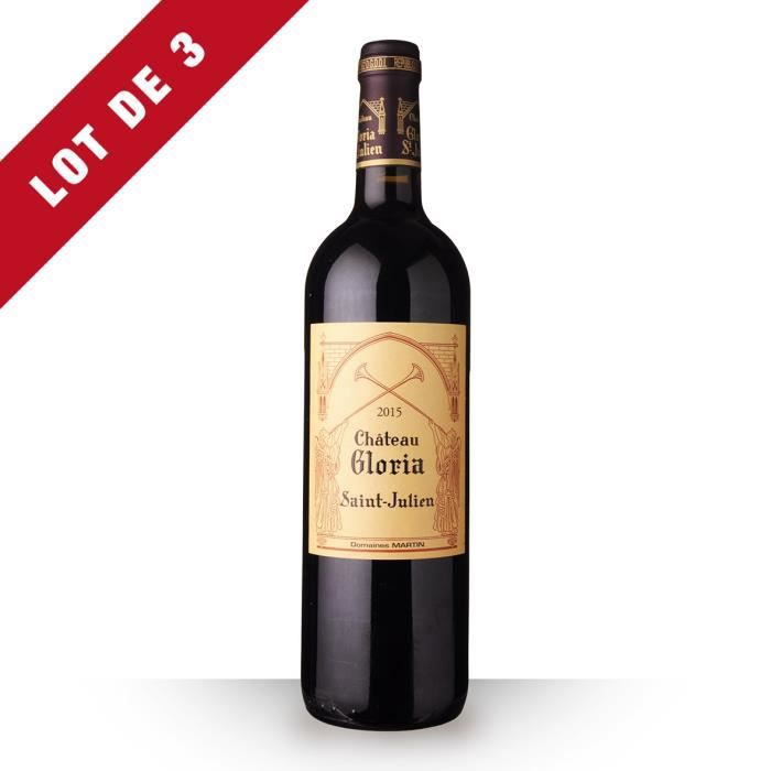 3x Château Gloria 2015 AOC Saint-Julien - 3x75cl - Vin Rouge