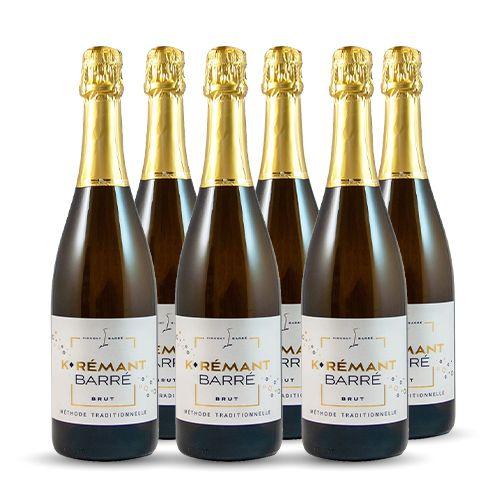 6 bouteilles - Champagne blanc - Effervescent - MÉTHODE TRADITIONNELLE BLANC KAREMANT BARRÉ Brut Blanc 2017 6x75cl