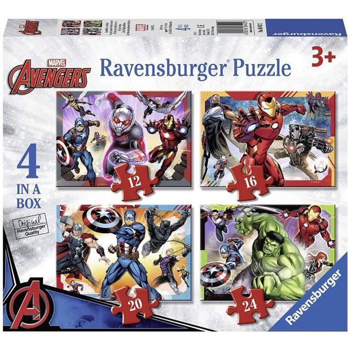 Casse-tête Ravensburger Marvel Avengers 4 dans une boîte (12, 16, 20, 24 pièces)
