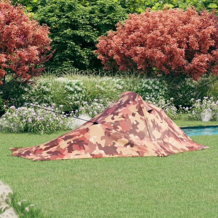 New-8327Tente de camping familiale 4 personnes Professionnel - Tente pour Randonnée Camping Extérieur 317x240x100 cm Camouflage