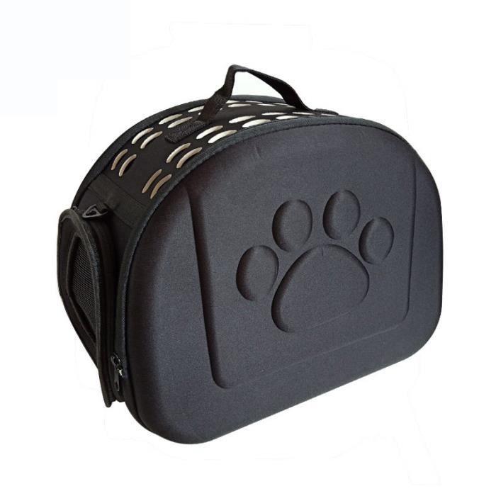 Sac pour animaux de compagnie Sac à dos pour chat Sac pour chien Sac pour animaux de compagnie EVA Sac d'emballage pliant-noir*CD1
